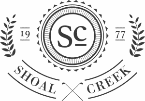 Dark Gray Shoal Creek Logo